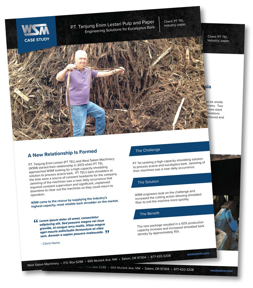 Eucalyptus Bark Case Study downloadable PDF flyer