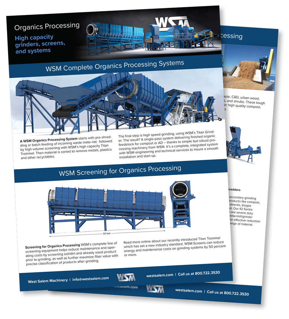 Organic Processing: High capacity grinders, screens, and systems downloadable flyers