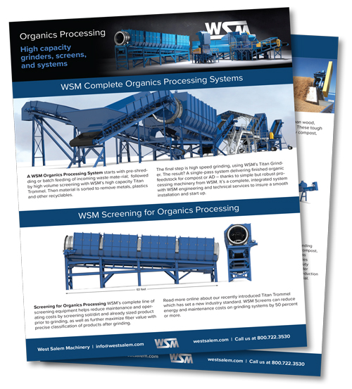 WSM Organic Processing: High capacity grinders, screens, and systems downloadable PDF flyer