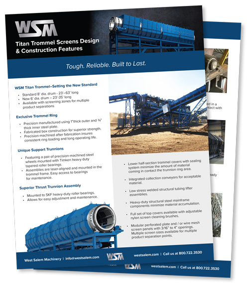 WSM Titan Trommel downloadable flyer PDF