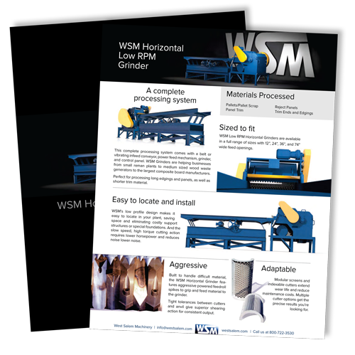 WSM Horizontal Low RPM Grinder downloadable flyer