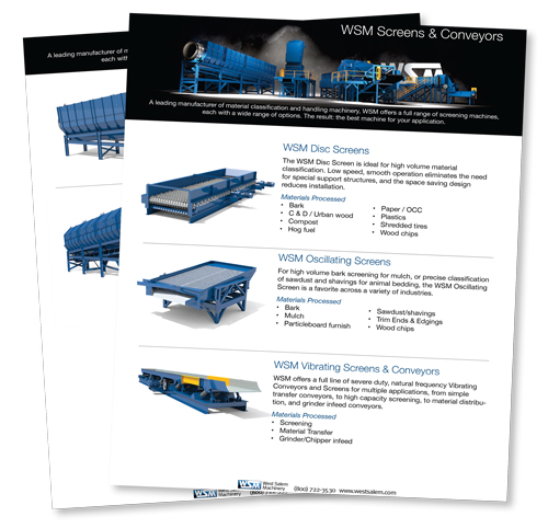 WSM Screens & Conveyors flyer downloadable PDF
