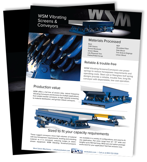 WSM Vibrating Screens & Conveyors downloadable flyer