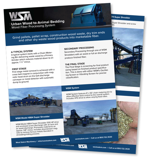 WSM Urban Wood to Animal Bedding: Wood Fiber Processing System downloadable PDF