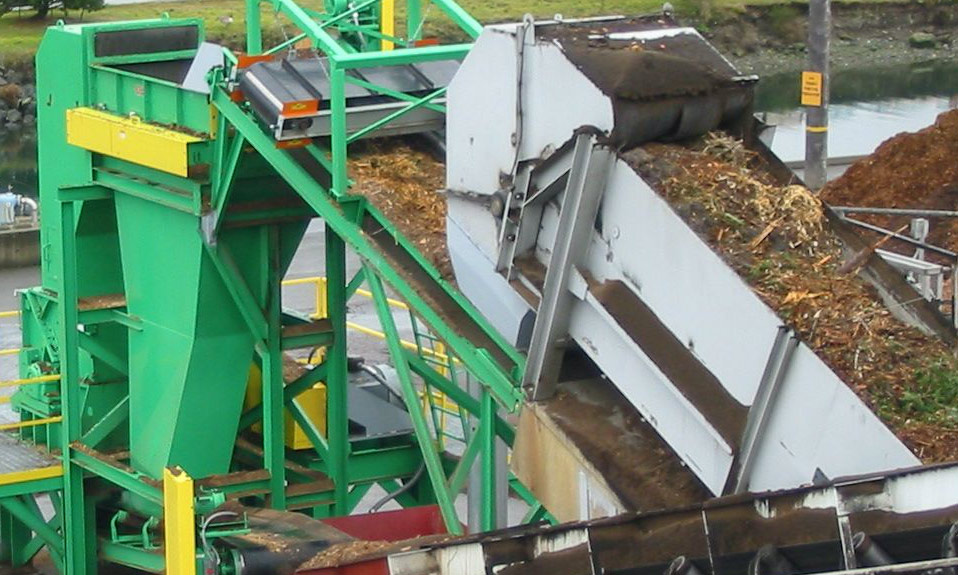 WSM Vertical Grinder processing biomass