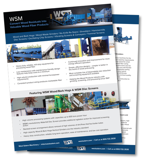 WSM Convert Wood Residuals into Valuable Wood Fiber downloadable PDF
